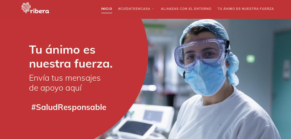 Ribera reactiva su web para enviar mensajes y dibujos de ánimo a pacientes y profesionales en la tercera ola del Covid